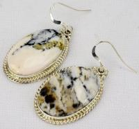 Navajo Sterling White Buffalo Turquoise Earrings