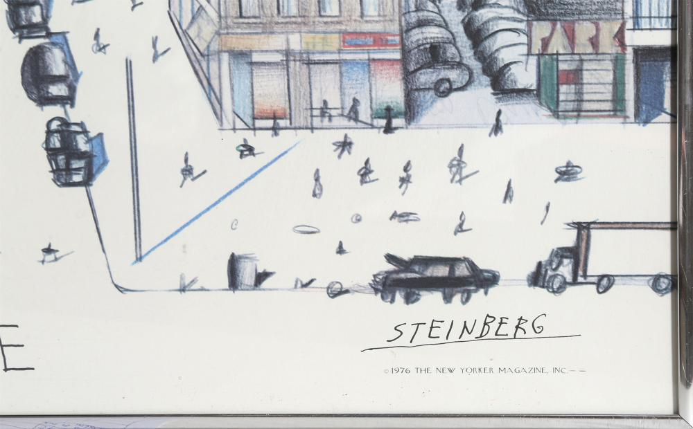 lot saul steinberg view of the world