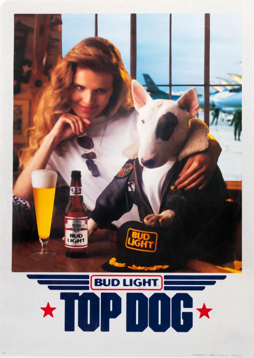 bud light top dog spuds mckenzie poster
