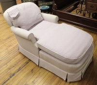 Furniture: Bake Furniture Co. overstuffed chaise lounge, typ