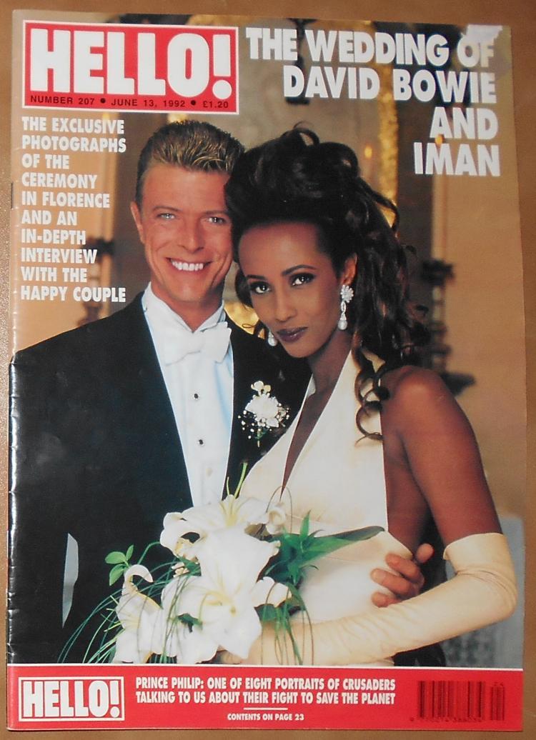 David Bowie Iman Wedding : david, bowie, wedding, David, Bowie, Wedding,, HELLO!, Magazine,