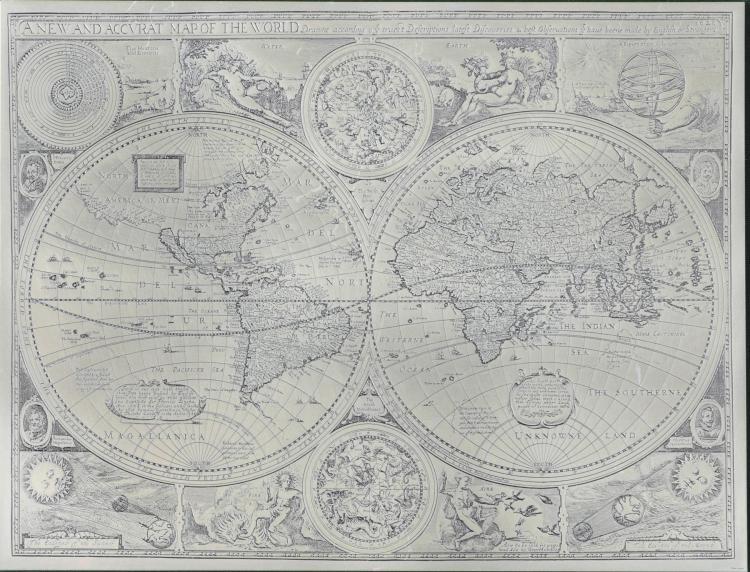 JOHN WARD MAP ETCHING.