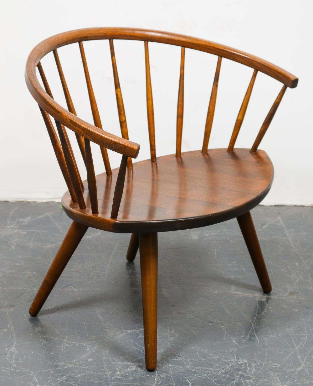 Sold Price Danish Modern Spindle Back Chair Invalid Date Edt