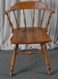 Ethan Allen Solid Maple Captain's Chair
