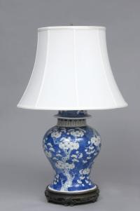 Chinese Antique Blue & White Lamp