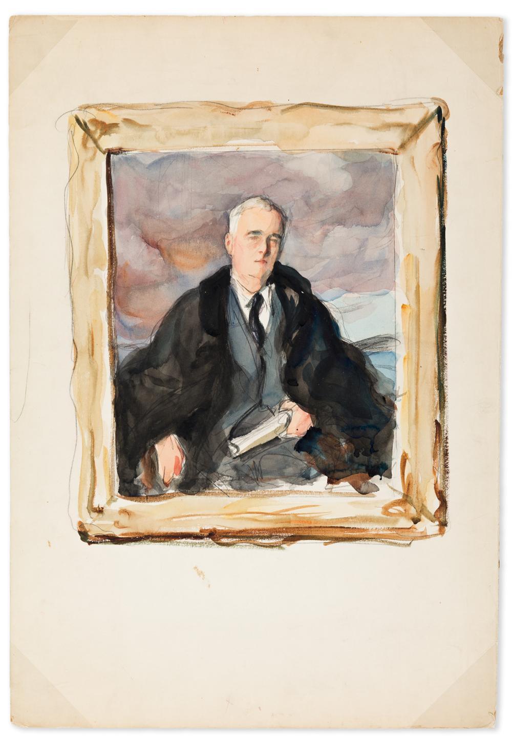Unfinished Portrait Of Franklin D Roosevelt : unfinished, portrait, franklin, roosevelt, Elizabeth, Shoumatoff, Artwork, Online, Auction, Biography