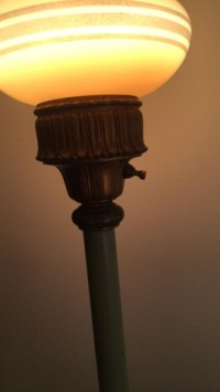 Early Electric Torchere Floor Lamp