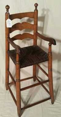 Antique Ladder Back Youth Chair