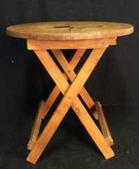 Round Fold Up Wooden Table