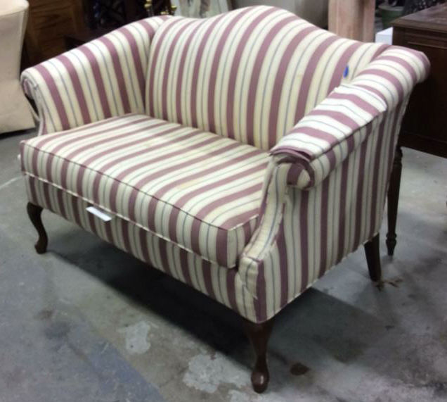 pembrook chair corp table and rentals nj vintage camelback setee loveseat sofa chippendale style sofaa with lot 13 scrolled arms