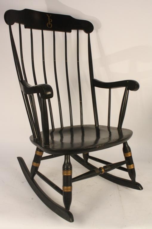 Vintage Yale Black Rocking Chair