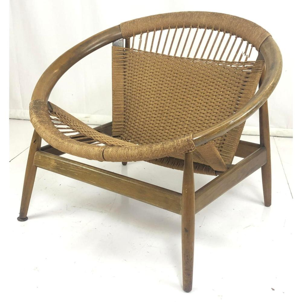 Danish Modern Lounge Chair Danish Modern Wood Hoop Lounge Chair Angled Circ