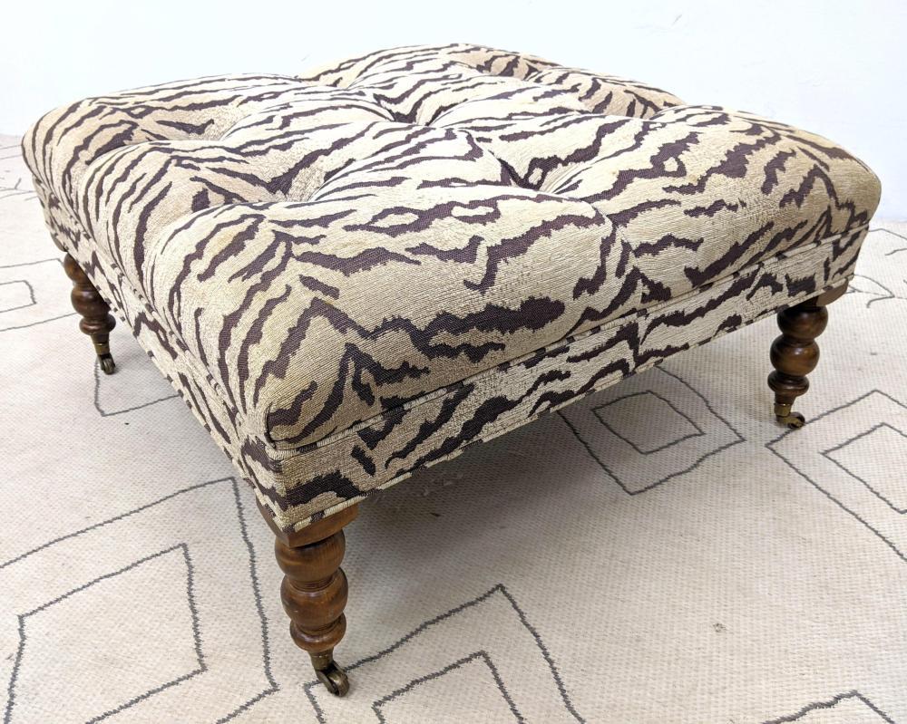 large animal print ottoman foot stool