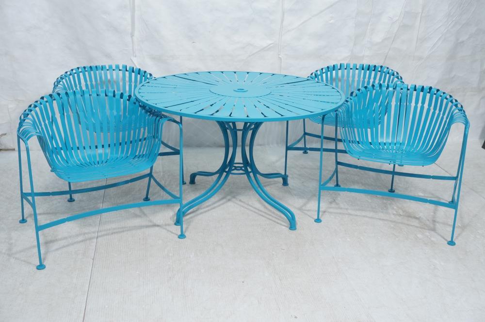 5pc russell woodard wrought iron patio set painte