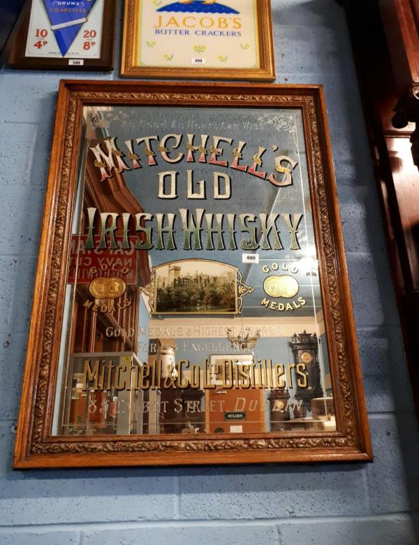 Extremely Rare 19th. . Mitchell' Irish Whiskey Adverti