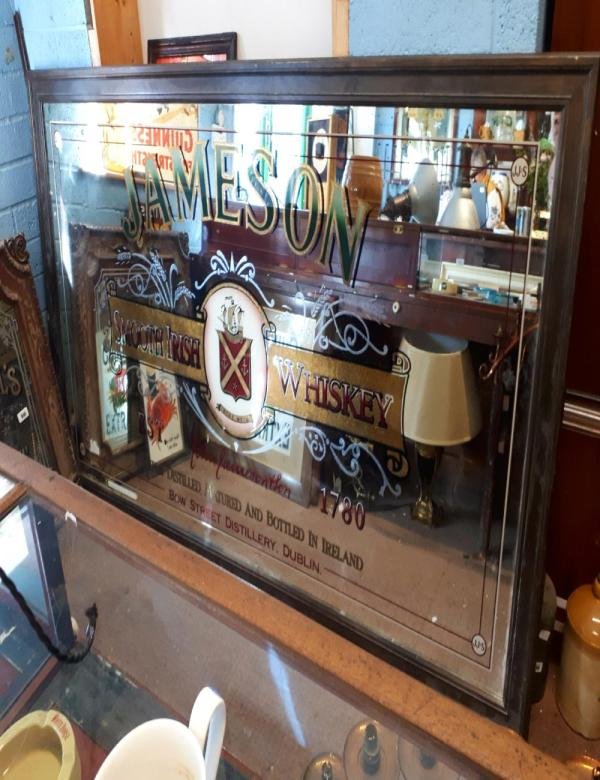 Jameson Irish Whiskey Advertising Mirror. 128cm X 23
