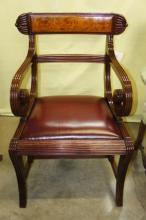 library chair ladder thomas potty english folding lot 5119