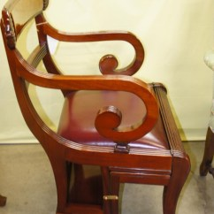 Library Chair Ladder Kitchen Side Chairs English Folding Lot 5119