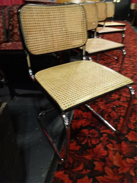 marcel breuer cesca chair with armrests fisher price space saver high 4 chairs by knoll original labels mid lot 56 century came back and seat on cantilevered chrome frame designed in 1928