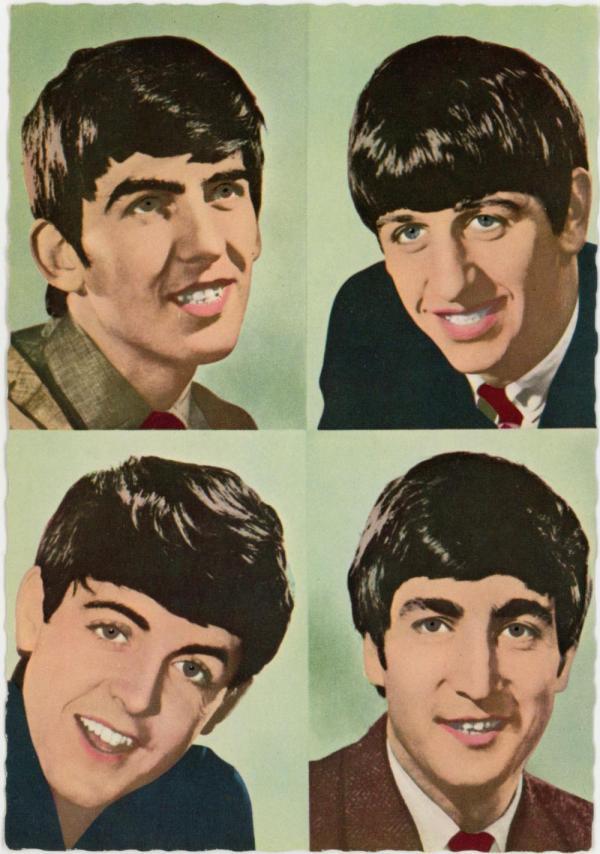 Vintage German Postcard Beatles 1960s