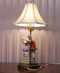 Antique German Porcelain Table Lamp.