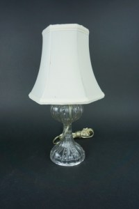 VINTAGE PRESSED GLASS STUDENT DESK LAMP