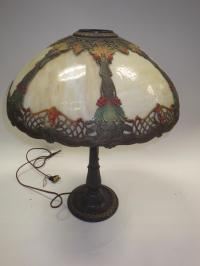 Victorian Era Slag Glass Lamp