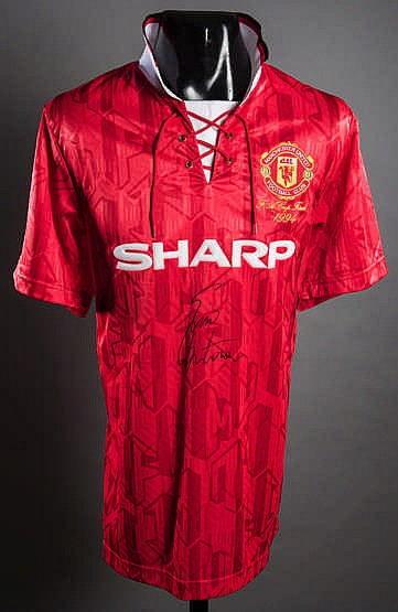 Eric cantona is most known for his skill on the soccer field. Sold Price: Eric Cantona signed Manchester United 1994 F.A ...