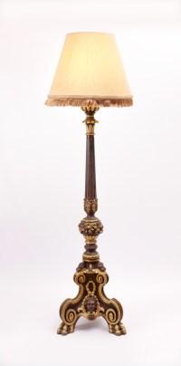 ROCOCO STYLE CONTEMPORARY TORCHIERE FLOOR LAMP