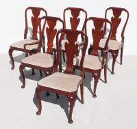 6 BAKER HISTORIC CHARLESTON QUEEN ANNE CHAIRS