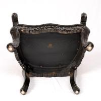 JAPANESE CARVED DRAGON THRONE CHAIR