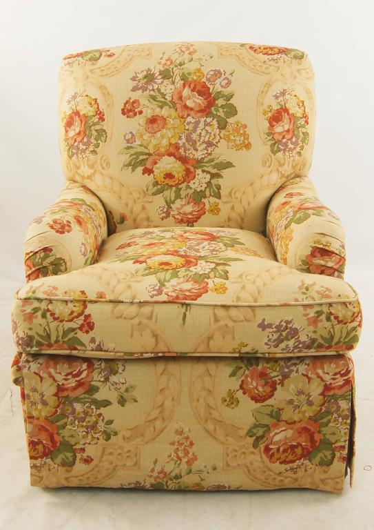 floral upholstered chair costco massage chairs lot 150a