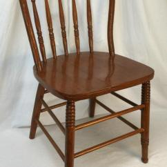 Bentwood Dining Chair Leather Arm Covers Antique Lot 2010n