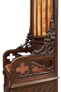 Italian Gothic Revival Throne Chair