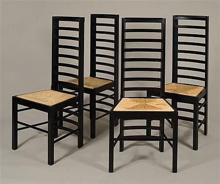 charles rennie mackintosh willow chair velvet design set of four chairs designe designed for miss cranston s tea rooms