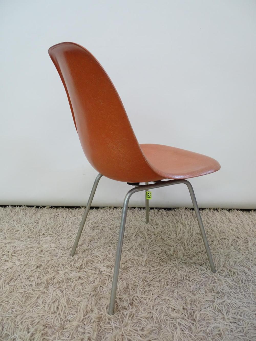 fiberglass shell chair roll up office mat original charles eames for herman miller lot 100