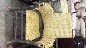 Rustic handmade rocking chair