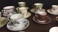 Large selection of tea cups and saucer's