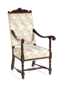 MEDIEVAL-STYLE ARMCHAIR.