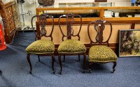 Bedroom Chairs. Three in total with ornate flower and scroll