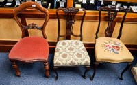 Bedroom Chairs Three in total, all in dark wood, t