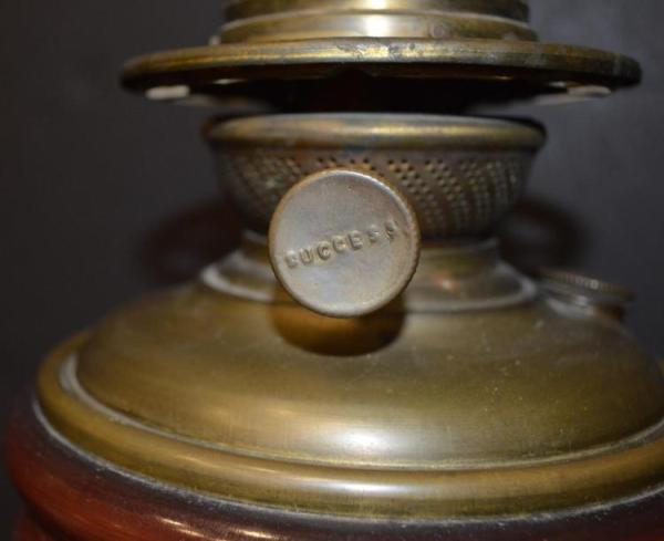 Antique Hurricane oil lamp by Success Co