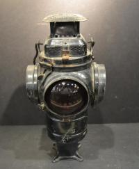 Vintage Adlake Non Sweating Railroad Lamp Chicago