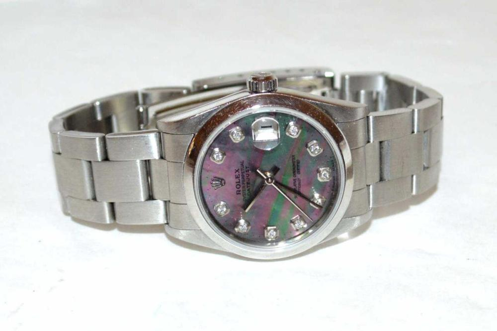 Stainless Mid Size Rolex Watch