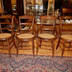 Antique Cane Dining Room Chairs Chair For Beauty Parlour 4 Piece Matching Seat Special Shipping Req Lot 284