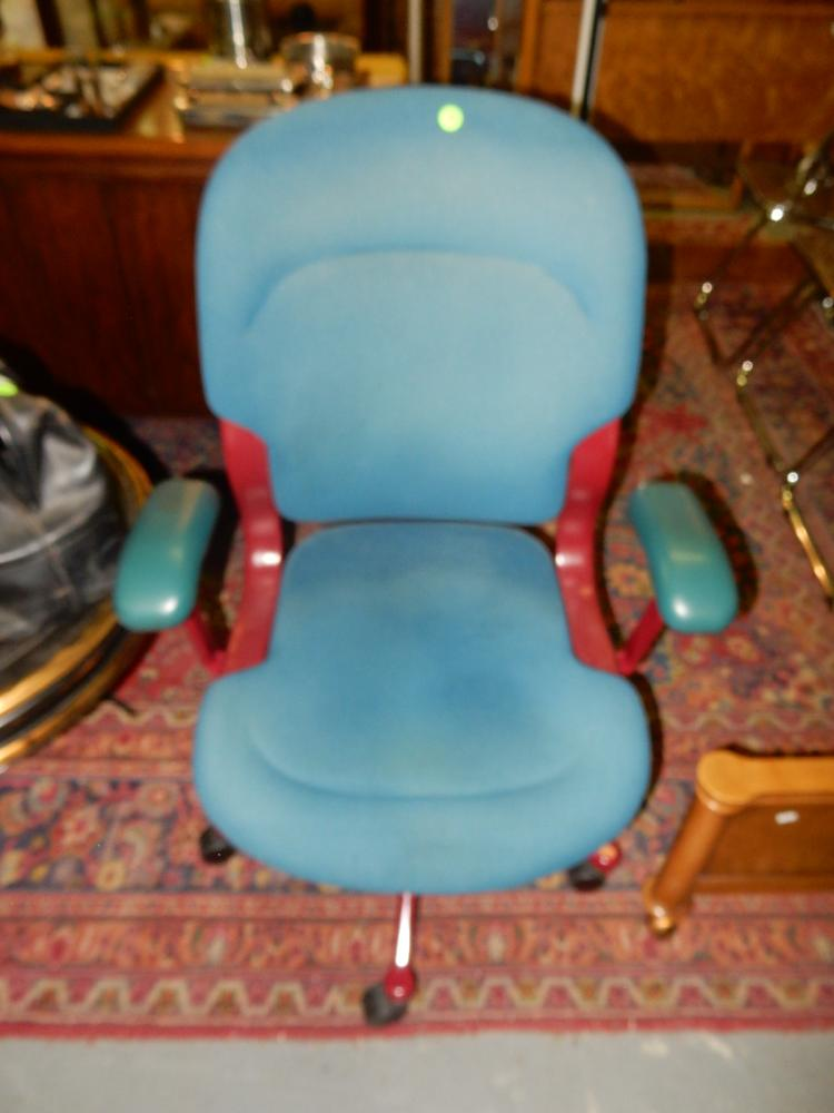 herman miller chairs seattle modern living room chair vintage stamped office blue and burgund lot 178 burgundy colors 1990 goodwill games cond vg may need cleaning