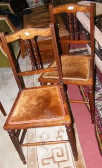 Three walnut bedroom chairs
