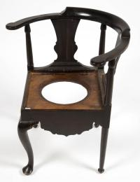 NEW ENGLAND PAINTED MAPLE CORNER / NECESSARY CHAIR