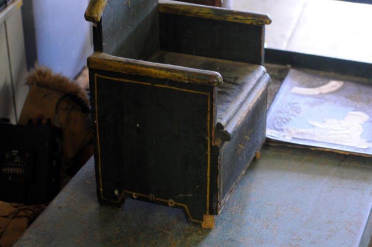 wooden potty chair ergonomic uplift antique child s lot 67