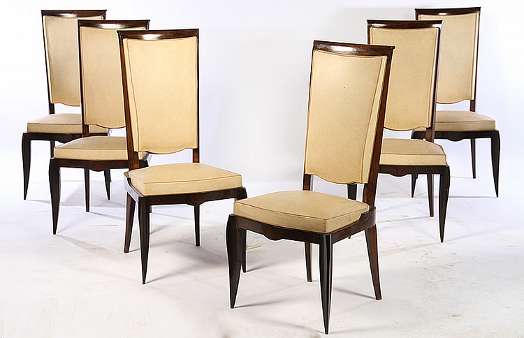 tall back dining chairs wrought iron and glass table set of 6 french c 1950 lot 92